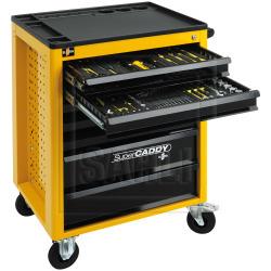 Werkstattwagen Super Caddy gefüllt mit 11 Werkzeugmodulen