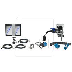 QVK Starterset komplett, Doppelmonitor, Inoxhalter, Spiralkabel und Warnlichtanschluss