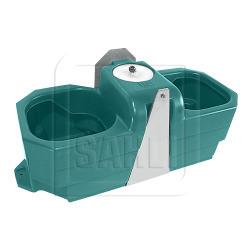 Doppel-Anbautränke für Weidefässer FT80